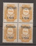 RUSSIE - LEVANT - TREZIBONDE - 1910 - N° 151 Bloc De 4 - NEUF XX MNH - Turkish Empire