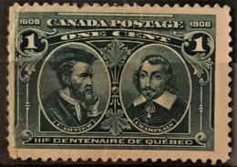 CANADA 1908 - MLH - Sc# 97 - 1c - Unused Stamps