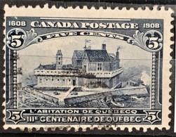 CANADA 1908 - Canceled - Sc# 99 - IIIme Centenaire De Quebec 5c - Oblitérés