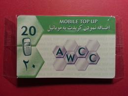 AFGHANISTAN 20u Mobile Top Up Line Phonecard AWCC Neuve Sous Blister Pas GSM MINT NSB NEUVE (BA1219bis.10 - Afghanistan