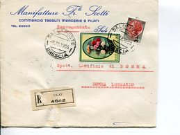 Italia (1966) - Raccomandata Da Salò (BS) - 6. 1946-.. Repubblica