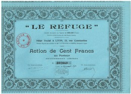 Titre Ancien - Le Refuge - Société Anonyme   - Titre De 1930 - - Non Classés
