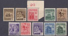 REPUBBLICA SOCIALE ITALIANA - 1944/1945 - Serie Completa Di 10 Valori Nuovi MNH: Yvert 31/40. - 4. 1944-45 Sozialrepublik