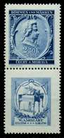 BÖHMEN MÄHREN ZUSAMMENDRUCKE Nr SZd37 Postfrisch SENKR X7B78D6 - Bohemia & Moravia