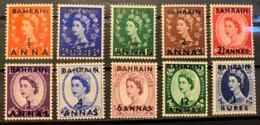 BAHRAIN  - MNH** - 1952-1954 - # 81/90 - Bahrain (...-1965)
