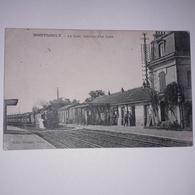 CPA Montsoult Arrivé D Un Train En Gare - Montsoult