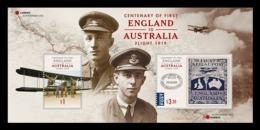 Australia 2019 Mih. 5008/09 (Bl.596) Aviation. First England To Australia Flight MNH ** - 2010-... Elizabeth II