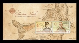 Christmas Island 2019 Mih. 918/19 (Bl.58) 19th-Century Explorers. Seafarers John Maclear And Pelham Aldrich MNH ** - Christmas Island