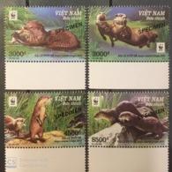 WWF W.W.F. Vietnam Viet Nam MNH Specimen Stamps 2016 : Otter - Vietnam