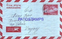 127841 ISRAEL COVER CIRCULATED TO URUGUAY POSTAL STATIONERY NO POSTCARD - Unclassified