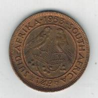 South Africa, 1/4 Penny, 1953, XF. - South Africa