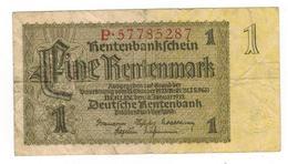 Germany 1 Rentenmark, 1923, Used, See Scan. - [ 3] 1918-1933: Weimarrepubliek