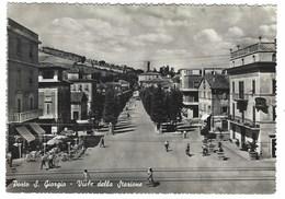 2269 - PORTO S GIORGIO VIALE DELLA STAZIONE ANIMATA FERMO 1954 - Italia