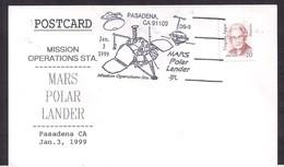 USA - 1999 - Cachets Spéciaux - Mars Polar Lander - Amérique Du Nord