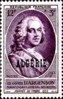 Algérie Poste N** Yv:303 Mi:314 Journée Du Timbre Comte D'Argenson - Argelia (1924-1962)