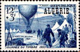 Algérie Poste N** Yv:325 Mi:340 Journée Du Timbre La Poste Par Ballon - Algeria (1924-1962)