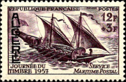 Algérie Poste N** Yv:342 Mi:363 Journée Du Timbre Service Maritime Postal - Argelia (1924-1962)
