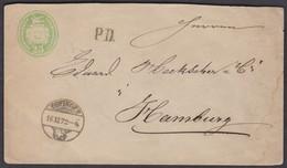 AG ZOFFINGEN -  HAMBURG  1872 - Stamped Stationery
