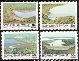 South Africa Bophuthatswana 1988 Dams Ngotwane Groothek Sehujwane Places Architecture Stamps MNH Michel 210-213 - Architecture