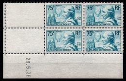 FRANCE - YT N° 313 Bloc De 4 Coin Daté - Neuf **/* - MNH/MH - Cote: 202,00 € - Lire Descriptif - 1930-1939