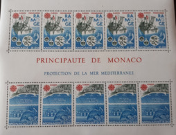 MONACO BLOC FEUILLET YT34 1986 EUROPA PROTECTION DELA MEDITERRANEE NEUF SANS CHARNIERE - Monaco