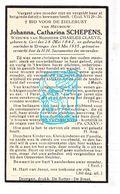 DP Johanna Cath. Schepens ° Gent 1842 † Drongen 1935 X Charles Claeys - Images Religieuses