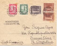 1935 Da Mogadiscio Per Buenos Aires Con Serie Pittorica -Somalia    - Franc1 - 1900-44 Vittorio Emanuele III