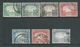 Aden 1937 Dhows 1/2 Anna - 3&1/2 Annas FU - Aden (1854-1963)