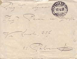 1925 Da Massaua Eritrea Per Palermo Con Elefanti Sovrast Notevole Valore Cat.   - Franc1 - 1900-44 Vittorio Emanuele III