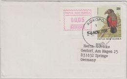 Papua Neuguinea - Kokopo 1998 Brief 25 T Vogel + 0,05 ATM - Papua New Guinea