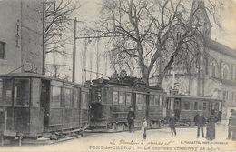 Pont-de-Chéruy (Isère) Le Nouveau Tramway De Lyon, Place De L'Eglise - Edition F. Vialatte - Pont-de-Chéruy