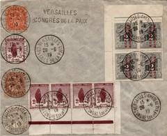 Versailles Chateau 1919 Congrès De La Paix + Griffe - Timbres Orphelins Et Grec Surchargé - Guerre De 1914-18