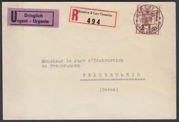 NR. 244  DRINGLICH BRIEF  /  PERFEKT ZENTRISCH GESTEMPELT - Schweiz