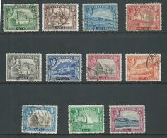 Aden 1939 KGVI Definitives Short Set Of 11 To 2 Rs FU - Aden (1854-1963)