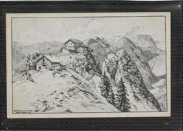 AK 0400  Oberammergau - Pürschlinghäuser / Federzeichnung V. Prof.  Ackermann-Pasing Um 1919 - Oberammergau