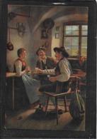 AK 0400  Rau , E. - Zwischen Zwei Feuern/ Künstlerkarte Um 1917 - Malerei & Gemälde