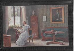 AK 0400  Panitzsch , Rob. - Am Nachmittag / Künstlerkarte Um 1917 - Peintures & Tableaux