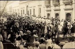 Cp Mexiko, Revolution, Marschierende Soldaten - Mexique
