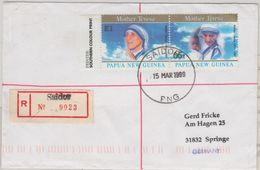 Papua Neuguinea - Saidor 1999 Einschreibebrief K1+65 T Mutter Theresa - Papua Nuova Guinea