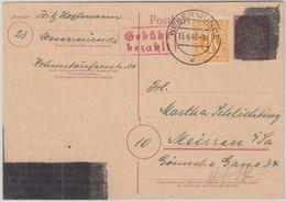 All.Bes./Brit. Zone - Wesermünde Behelfsausgabe Ganzsache M. Zusatz 15.4.46 - Allemagne
