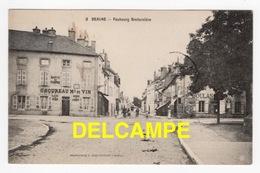 DD / 21 CÔTE D'OR / BEAUNE / FAUBOURG BRETONNIÈRE , CHOUREAU MARCHAND DE VIN , BUVETTE DU TRAMWAY / ANIMÉE / 1910 - Beaune
