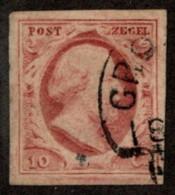 NTH SC #2 U 1852 King William III 4-margins CV $27.50 - Period 1852-1890 (Willem III)