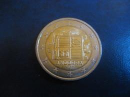 2 EUR 2017 ANDORRA Bi-metallic Coat Of Arms Good Condition Euro Coin - Andorre