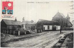 LANCHERES: LE MONUMENT ET L'EGLISE - France