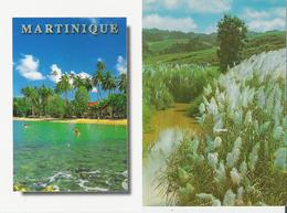 MARTINIQUE. 2 CP Rivière Pilote, Anse Figuier - Cannes à Sucre En Flèches - Martinique