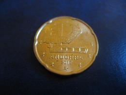 20 Cents EUR 2017 ANDORRA Good Condition Euro Coin - Andorre