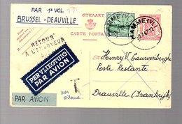 1947 1e Vol Bruxelles > Deauville (876) - Covers & Documents