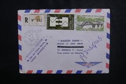 CÔTE D'IVOIRE - Enveloppe En Recommandé De Dabou Pour Marseille En 1974, Affranchissement Plaisant - L 50088 - Côte D'Ivoire (1960-...)