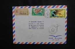 CÔTE D'IVOIRE - Enveloppe En Recommandé De Daloa Pour Marseille En 1972, Affranchissement Plaisant - L 50089 - Côte D'Ivoire (1960-...)