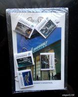 """Publicite DASSAULT AVIATION - 1 CP  ( Ets D'Argenteuil) + 5 """"cliptou""""  Trombonnes  5 Photos Avions - Sous BLISTER - Autres"""